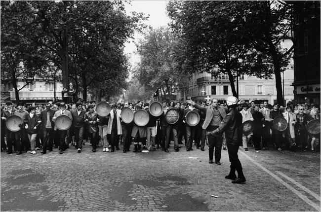 France May 1968 - Trashcan Lids