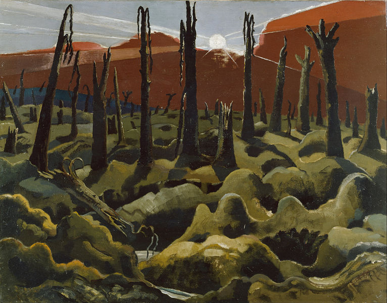 Paul Nash. We Are Making A New World. 1918