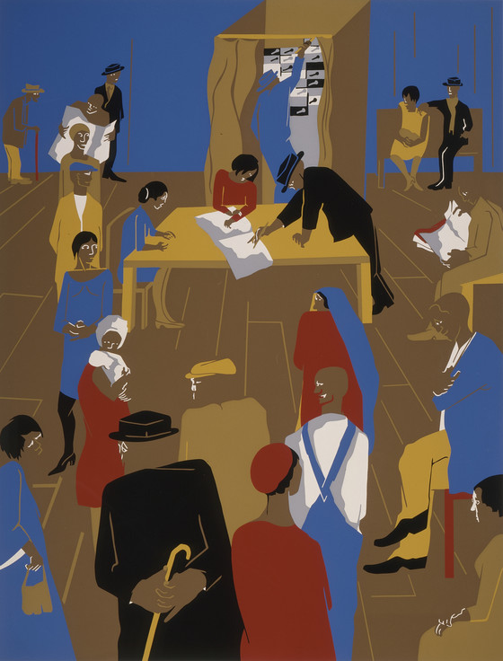 Jacob Lawrence. The 1920's...The Migrants Arrive and Cast Their Ballots. 1974